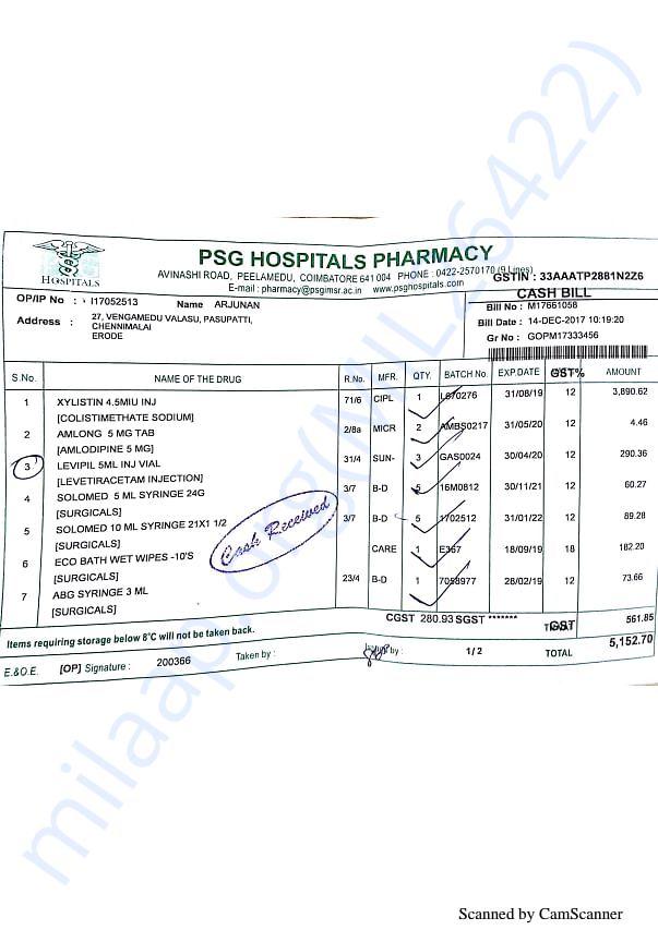 Pharmacy bills 1 14-12