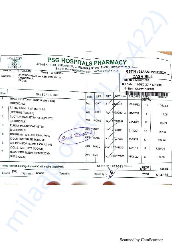Pharmacy bills 2 14-12