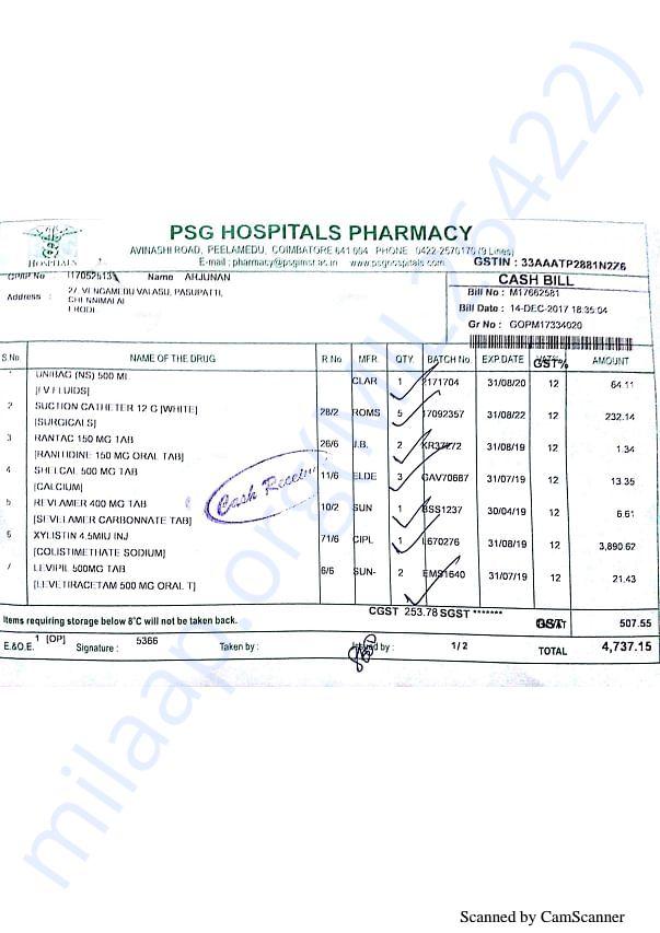 Pharmacy bills 3 14-12