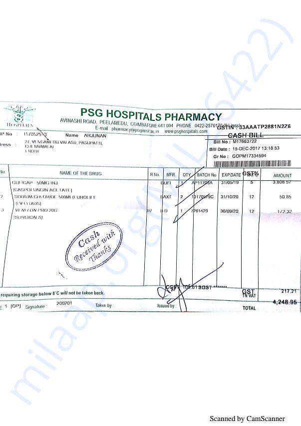 Pharmacy bills 1 15-12
