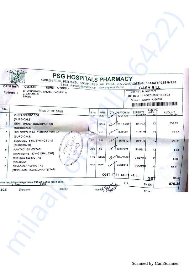 Pharmacy bills 2 17-12