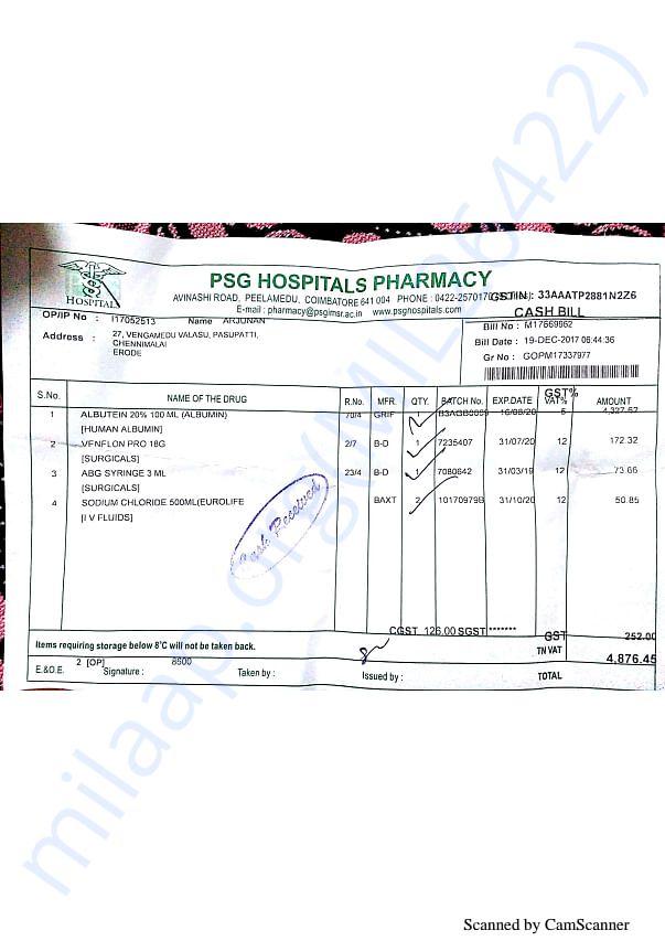 Pharmacy bills 2 19-12