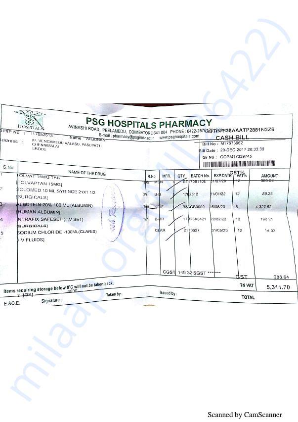 Pharmacy bills 6 20-12