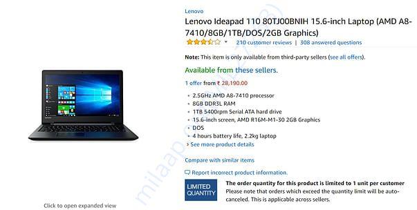 The laptop price
