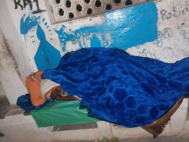 Blanket distributed to Homeless sleeping near road