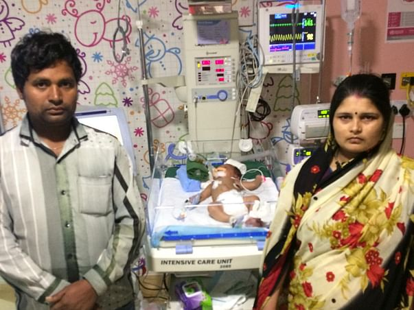 One and a half month old baby Ankush fights for his life in the ICU