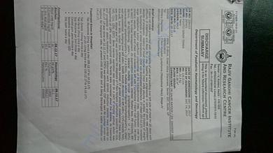 Initial discharge report