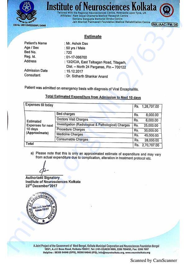 Hospital Bill estimate