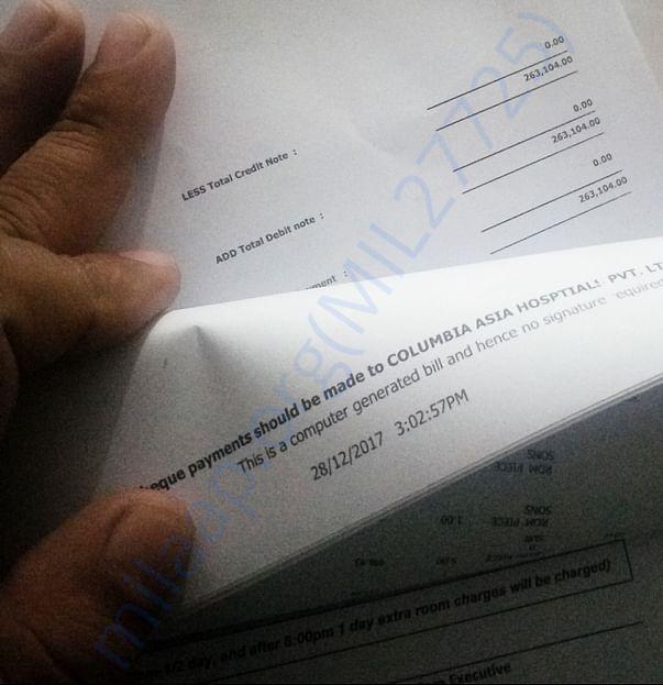 Running bill at 3pm 28th December.