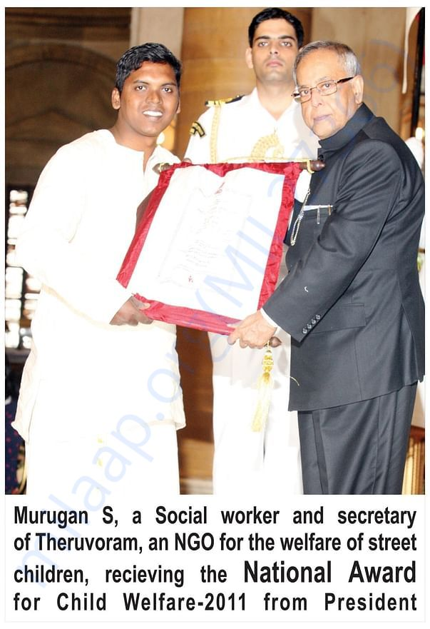Honored by  National Award from the President of India in 2011-2012