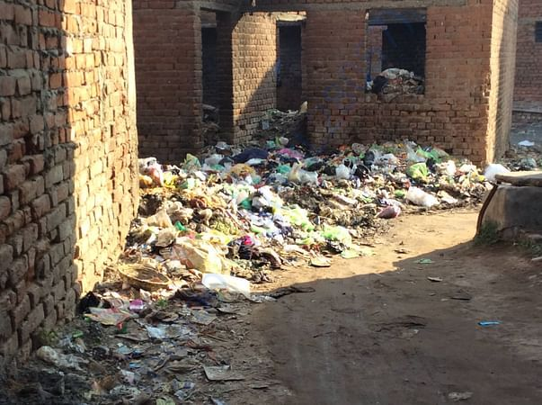 Garbage filled sites and areas