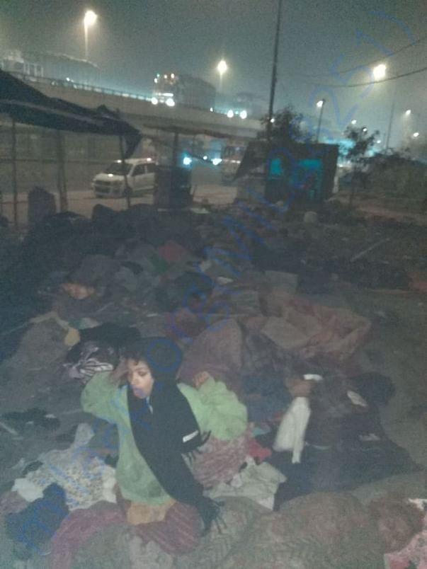 People Sleeping at Roadside