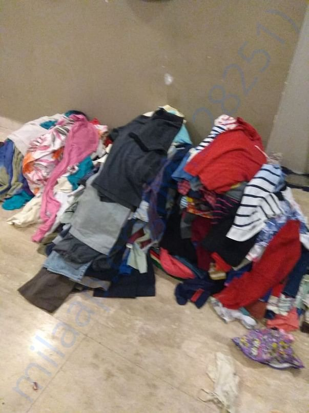 We collected clothes and distributed but they need blankets to cover t