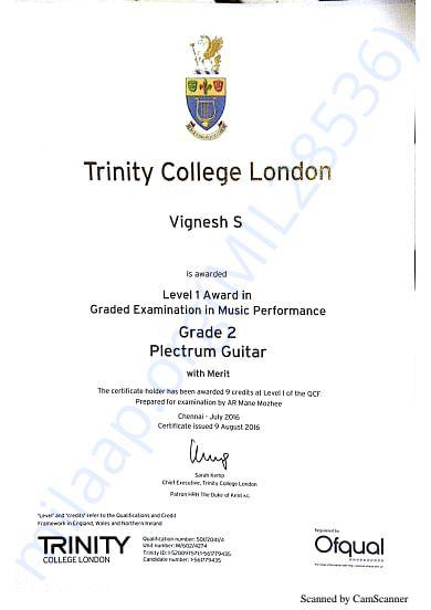 Trinity Grade Exam Cerificates Grade 2 Practicals