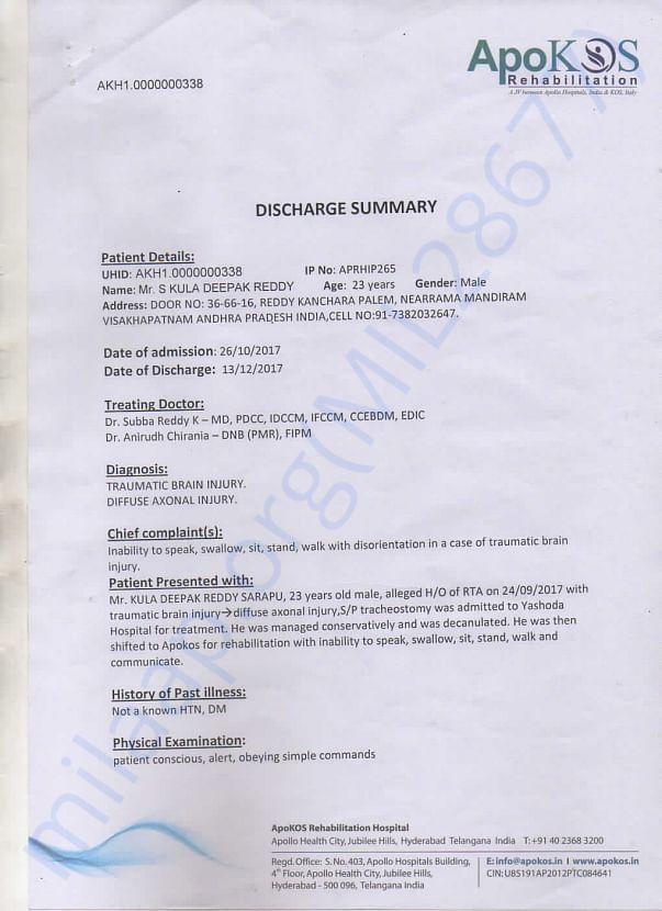Apokos Discharge Summary