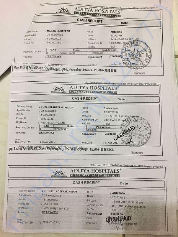 Aditya Hospitals Bill1