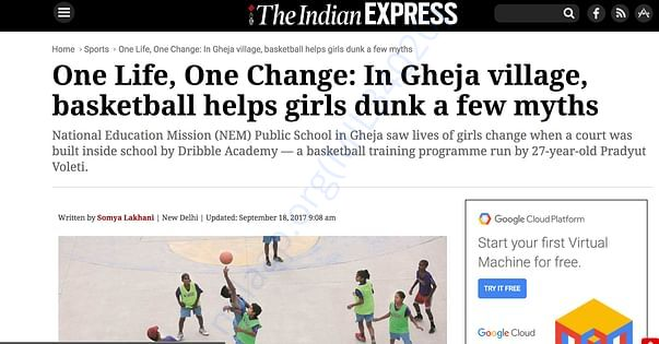 A basketball dream is taking shape in this Noida village