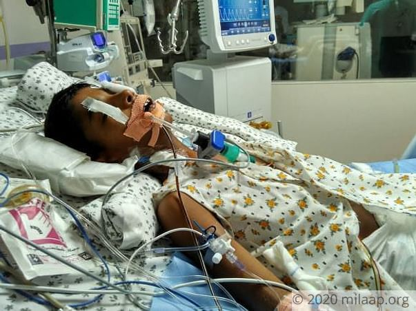 10-year-old Navadeep is on ventilator support and needs our help