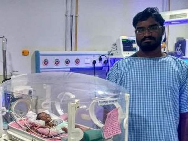 Sunita and Srinivas are struggling to save their prematurely born baby