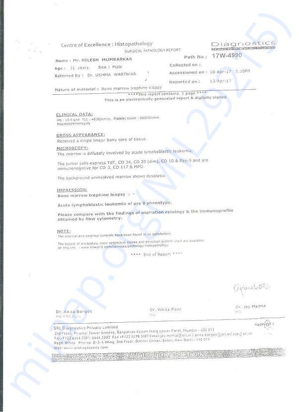 Surgical Pathology Letter