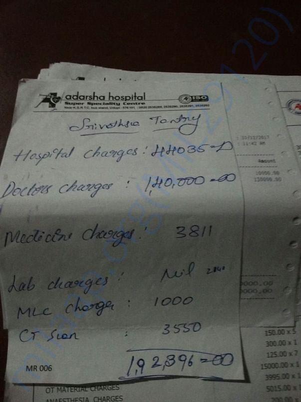 Hospital Bill of Son (Srivatsa Tantry)