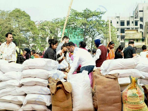 Rice Bucket Challenge Rice Distribution