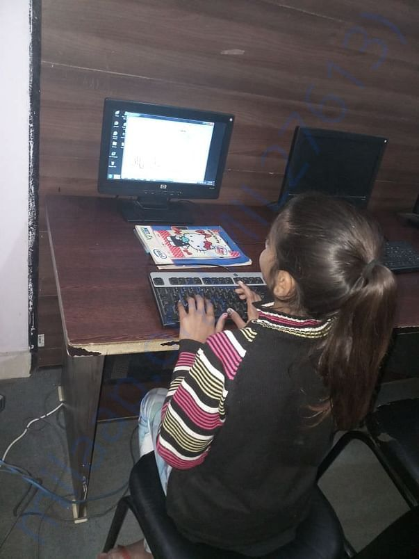 Sanjana has started her Computer Classes.