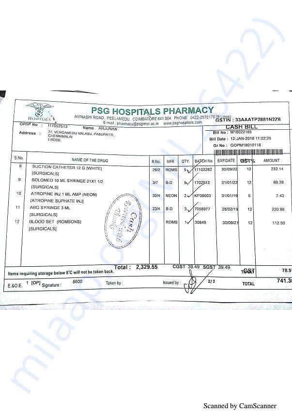Pharmacy bills Jan part 2