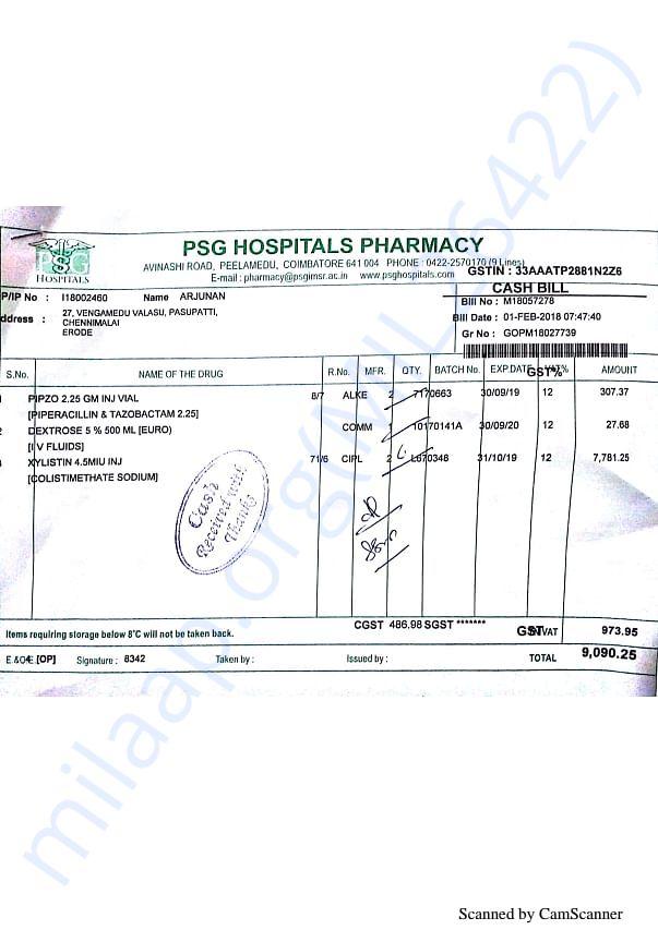 Pharmacy bills Feb 1st-2