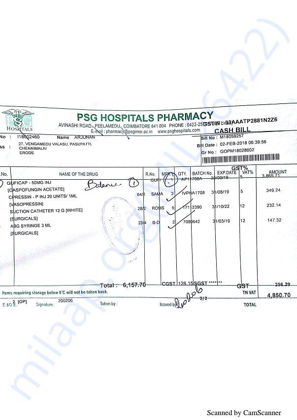 Pharmacy bills Feb 2-1