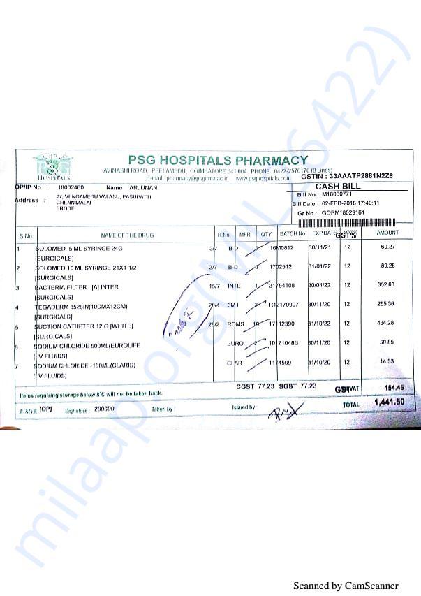 Pharmacy bills Feb 2-3
