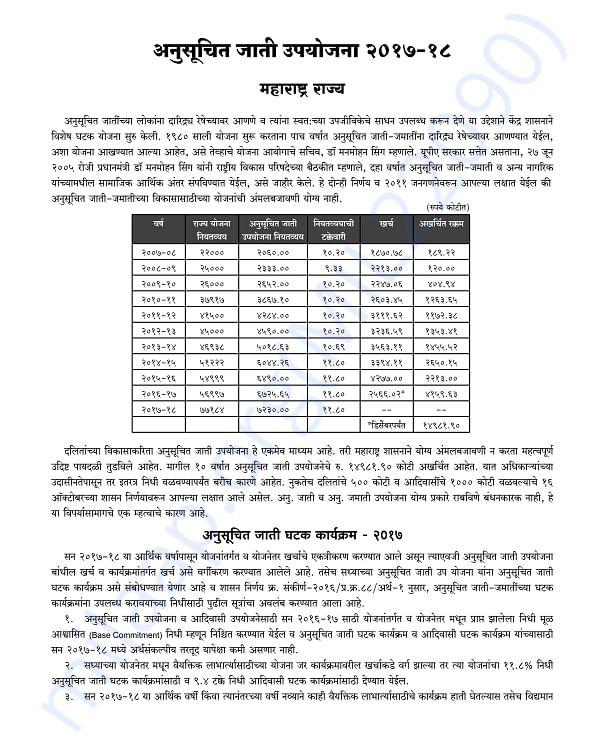 Scheduled Caste Component 2017