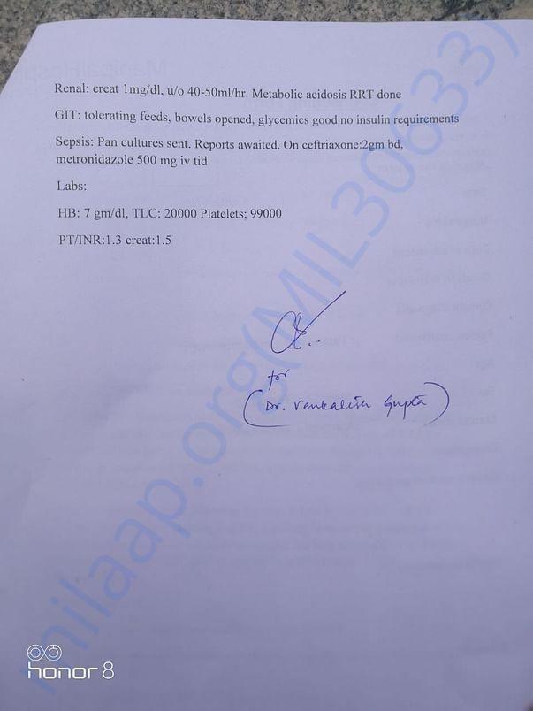 Page 2 - Hospital letter