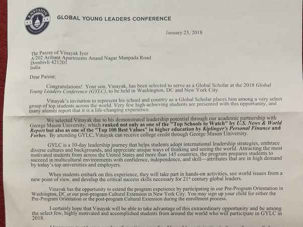 Help Me Attend Global Young Leaders Conference In New York City