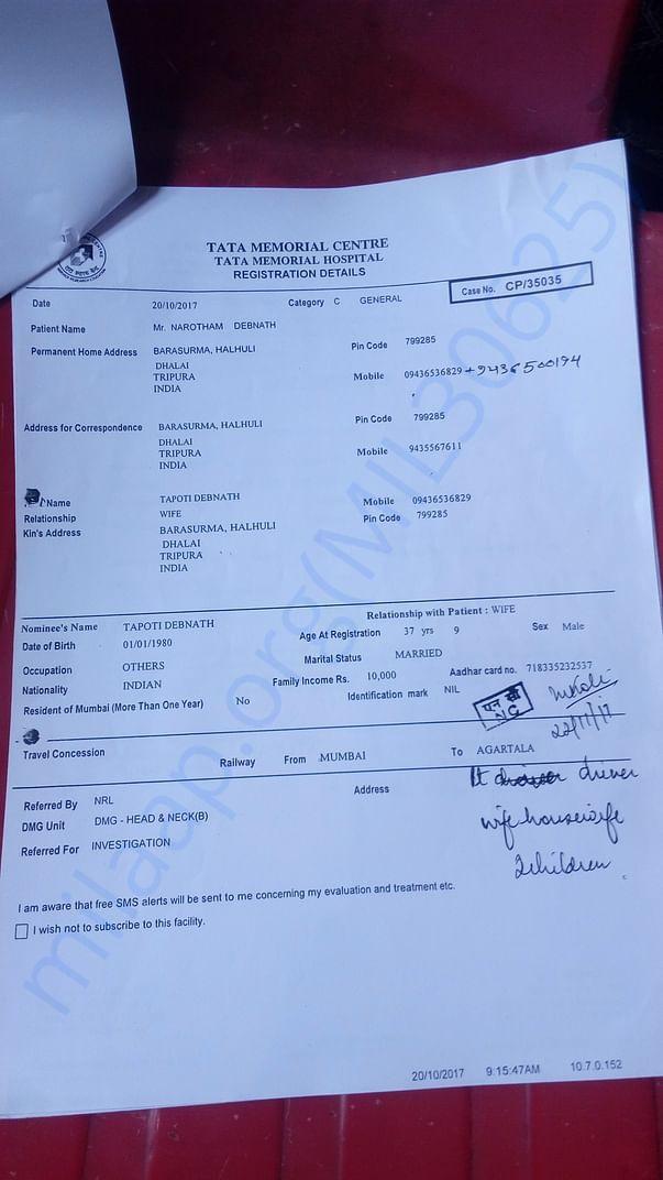 Tata Memorial Hospital Registration Details