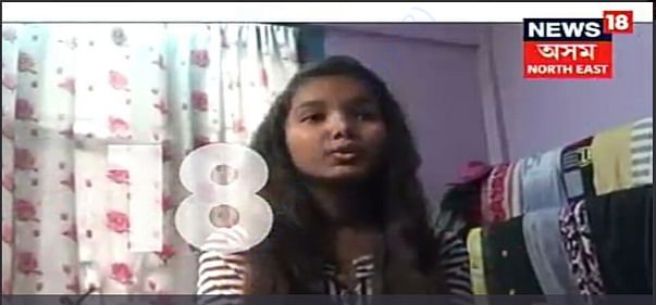 News 18 Assam covers Barsha's story