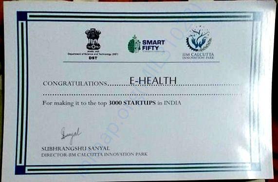 Certificate from IIM Kolkata Innovation Park