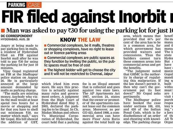 Please Donate, Help Us Fight Parking Mafia Corruption in Hyd & TS