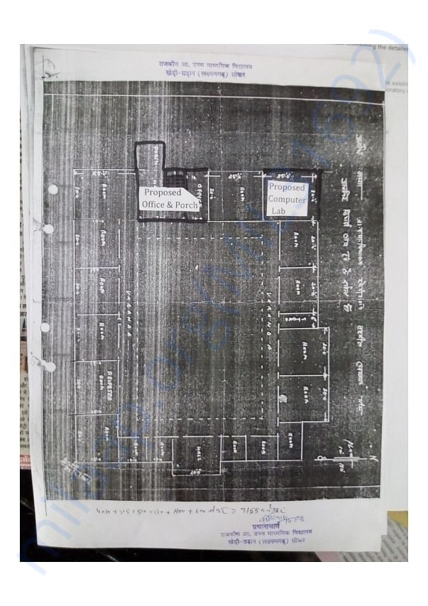 Blueprint of the proposed Computer Lab