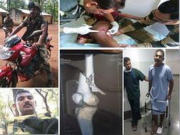 My Frnd Veeru a BSF Constable Injured Badly in Gun Battle with naxals