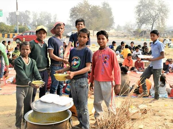 End child labour by feeding 150 slum area children everyday.
