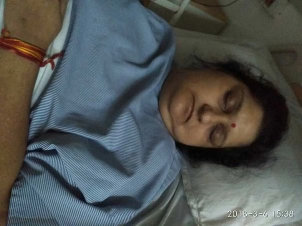 Urgent! Plz Help My Mother,condition Is Serious , Donate and Help