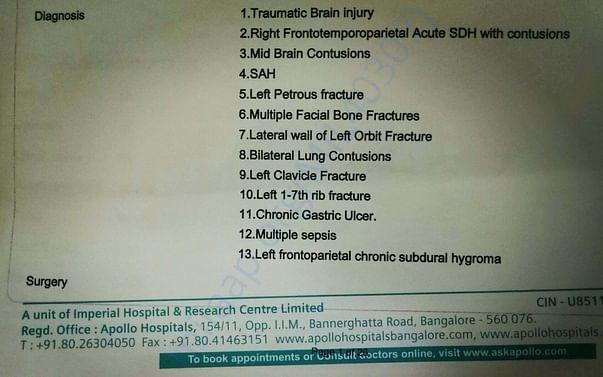 Clinical Summary By Dr. Arun Naik, Chief Neuro Surgeon at Apollo - 1