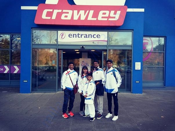 London Tournament Venue with my Team INDIA.