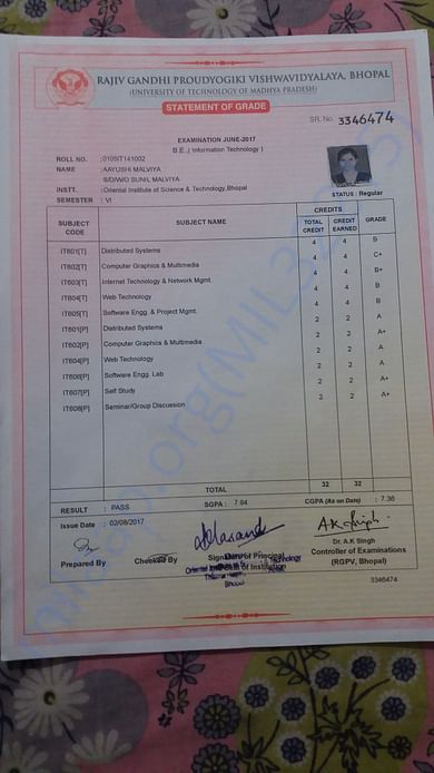 College report sheet (latest)