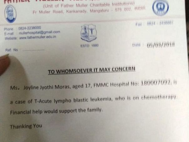 JOYLIN JYOTHI BLOOD CANCER RELIEF CAMPAIGN