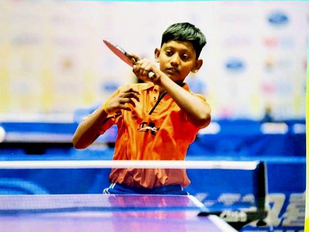 Preyesh suresh raj sports player india no 1 in table tennis