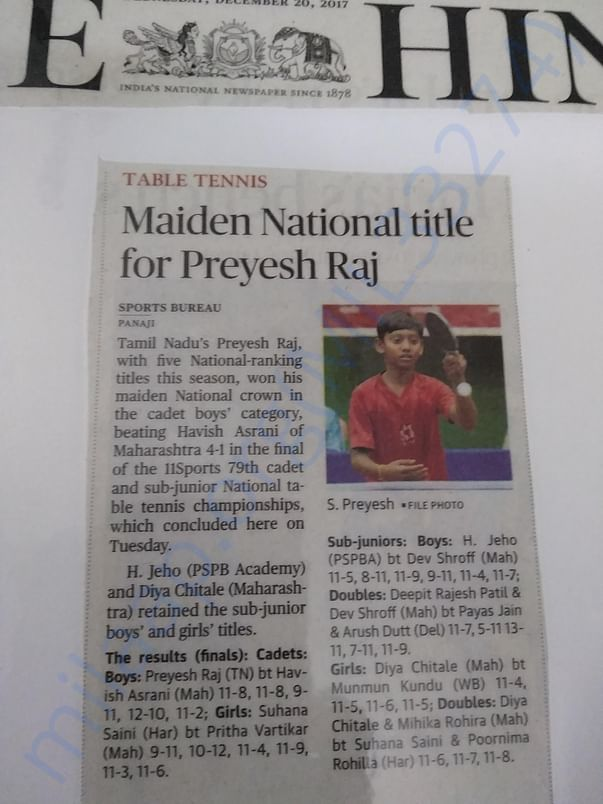 His first national Title