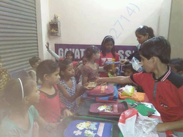 Providing gifts to students