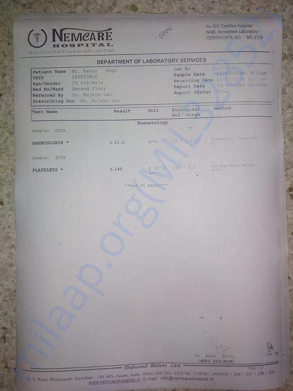 Medical report(s)